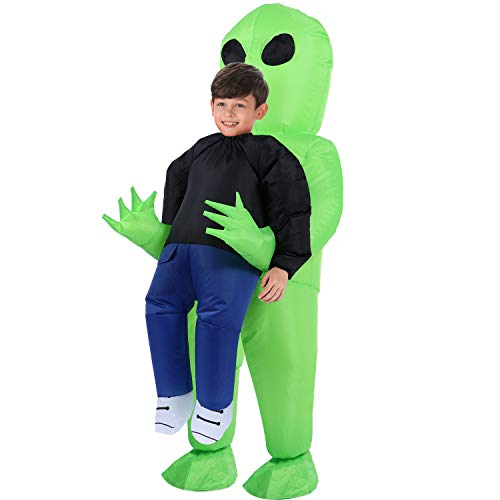 Argos Alien Halloween Costume (TOLOCO Inflatable Costume | Inflatable Alien Rider Costumes for Child | Halloween Costume Cosplay)