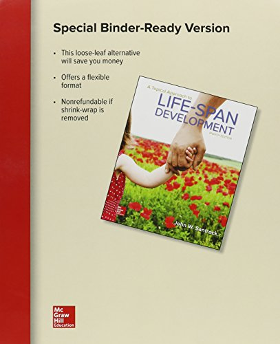 Loose Leaf for a Topical Approach to Life-Span Development with Connect Access Card -  John W Santrock, Teacher's Edition, Paperback