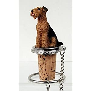 Conversation Concepts Airedale Dog Wine Bottle Stopper Dtb38 7