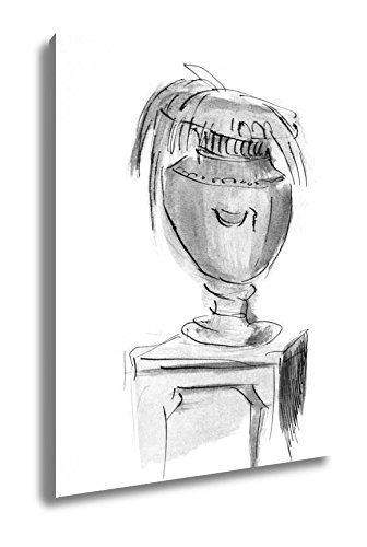 Ashley Canvas Drawing Stone Vase Decoration For Spa, Wall Art Home Decor, Ready to Hang, Black/White, 20x16, AG1540266 by Ashley Canvas (Image #3)