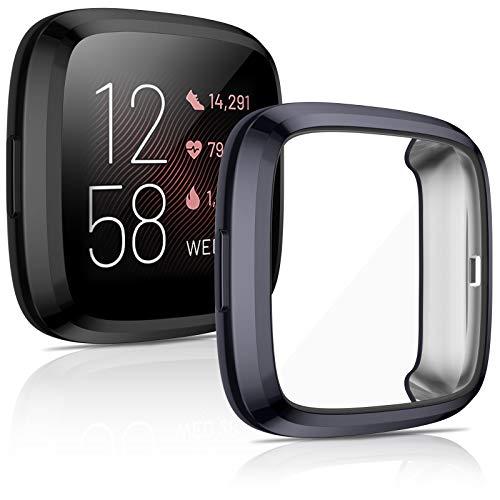 2 Protectores de Pantalla para Fitbit Versa 2 Black Charcoal