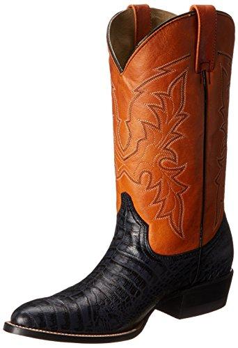 Roper Men's Exotica Western Boot - Black/Orange - 8 D(M) US
