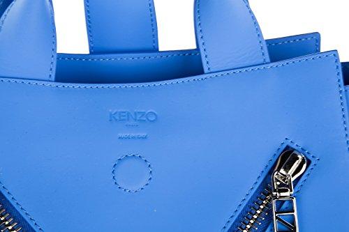 Kenzo borsa donna a mano shopping in pelle nuova kalifornia blu