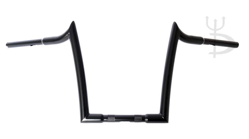 DEMONS CYCLE Mayhem Black 12 Rise Meathooks Ape Hangers 1-1//4 Handlebars for Harley Motorcycles
