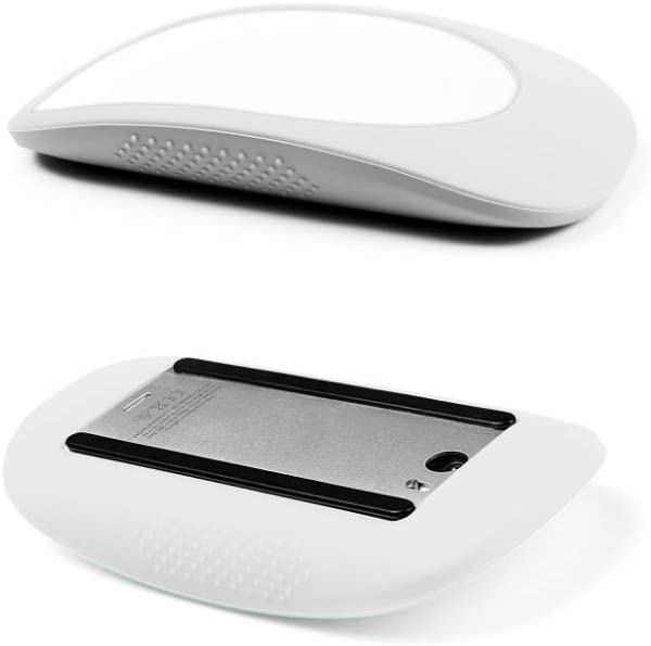 WESAPPINC Ultra Thin Silicone Case Cover Protective Skin for Apple Magic Mouse 1/2 ipad Silicone Case Anti-Scratch (White)