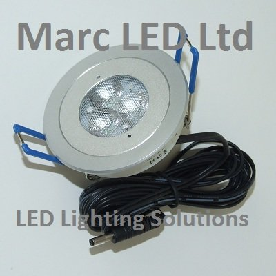 Under Cabinet LED Lighting, DC12V, set of 4 LED Lamps (3W) with accessories, CREE LEDs in each lamp, Warm White