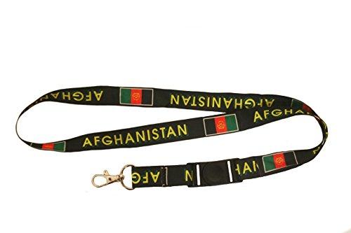Afghanistan Country Flag Lanyard Keychain Passholder ... 20 Inches Long ... (Afghanistan Country Flag)