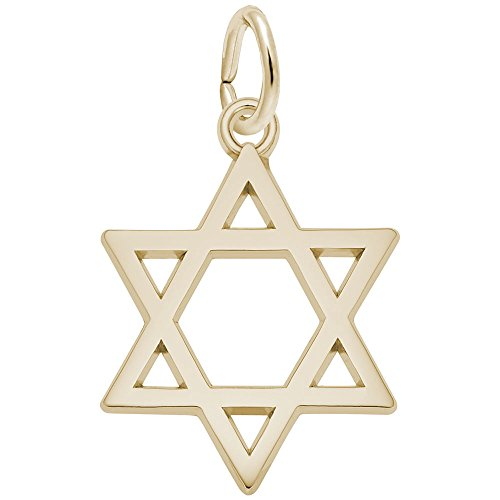 Rembrandt Charms, Star of David, 22K Yellow Gold Plated (Gold Plated Star Charms)