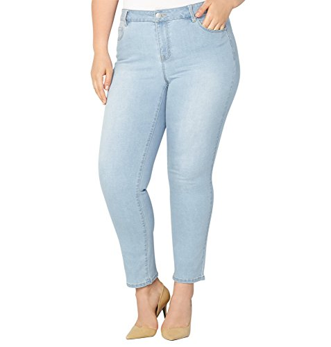 Avenue Women's 1432 Straight Leg Jean in Light hot sale