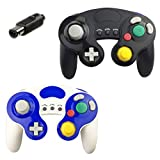 Gamecube Controller, 2 Pack Classic Wired Compatible with Nintendo Gamecube Controller for Wii U, PC, Switch to Play Super Smash Bros Controller. No Lag and No Driver Need GC Controller (Black+White)