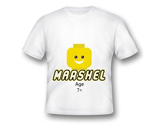 Custom Block Head Emoji Birthday T-Shirt, Emoji Tee Shirt, Printed Emoji Shirt, White Emoji TShirt, Birthday Shirt, Emoji Custom Shirt, Custom - Orange Block Of Directions The To