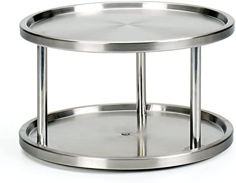 Turn Table Kitchen Amazon rsvp endurance stainless steel 2 tier kitchen turntable rsvp endurance stainless steel 2 tier kitchen turntable workwithnaturefo