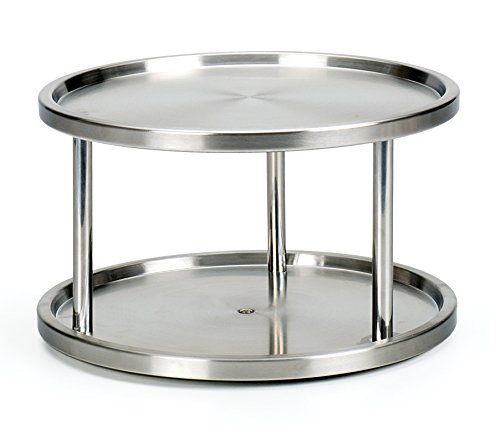 Endurance RSVP Stainless Steel 2 Tier Kitchen Turntable