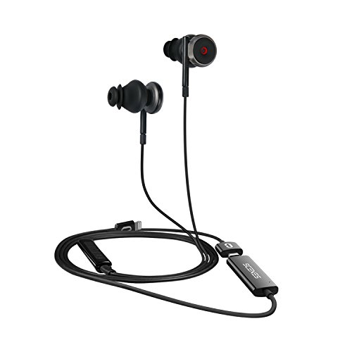 Scenes Lifelike VR Recording Headphones with Built-in Binaural 3D Audio Microphones ASMR, in-Ear Earbuds, Apple iOS ONLY, No Extra App Needed, Black