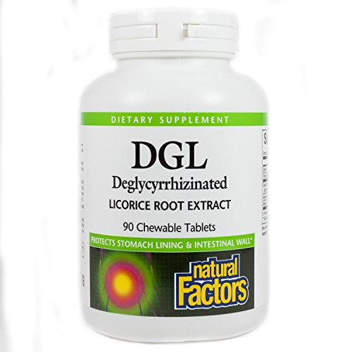 DGL Licorice Root Extract, 90 Chewable Tabs by Natural Factors (Pack of 4) by Natural Factors