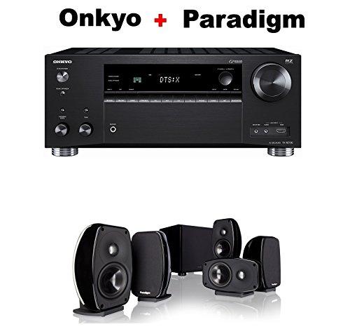 Onkyo-Rz-Series-Audio-Video-Component-Receiver-Black-TX-RZ720-Paradigm-Cinema-100-CT-51-Home-Theater-System-Bundle