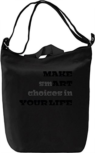 Life is Art Borsa Giornaliera Canvas Canvas Day Bag| 100% Premium Cotton Canvas| DTG Printing|