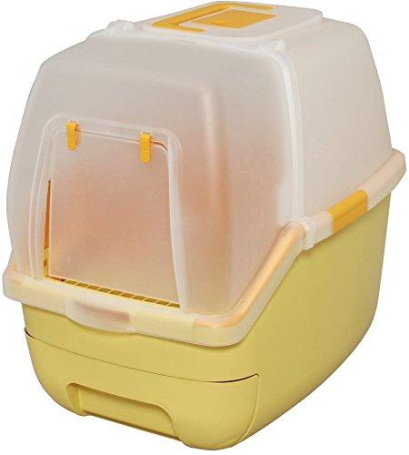 アイリスオーヤマ 楽ちん猫トイレ フード付きセット オレンジ RCT-530F