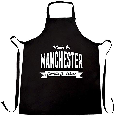 WEGOOAL Pride in Manchester Banner.Kitchen Cooking Aprons Bib Apron for Women Men Chef,BBQ Party Commercial Craft Black
