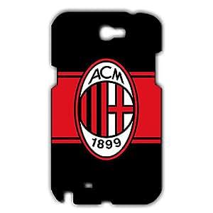 Associazione Calcio Milan Logo Phone Case for Samsung Galaxy Note 2 3D Black Slip On Cover