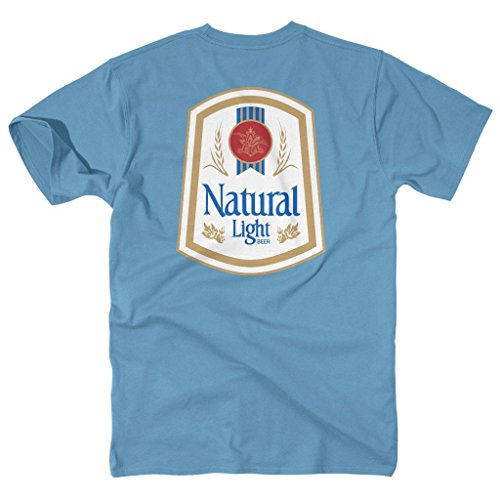 Natty Light - Natty Light Vintage Logo Short Sleeve Pocket Tee - size Small