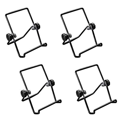 DAYREE 4pcs Book Stands Multipurpose Folding Wire Easels for Reading Adjustable Cook Iron Folding Fold Notebook Storage Book Stand