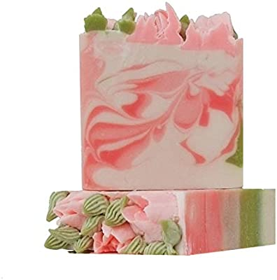 Beautiful Handmade Soap Bars with Rose Design and Rose Fragrance