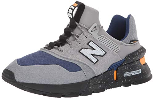 New Balance Men's 997v1 Sneaker, Steel/TECHTONIC Blue, 8.5 D US