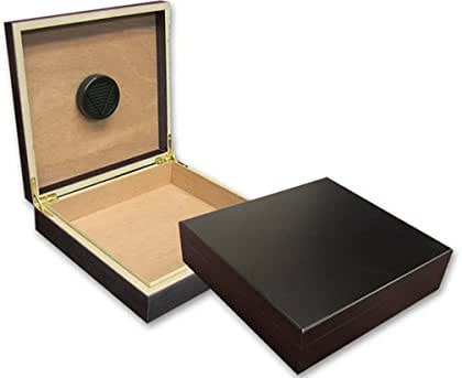 Prestige Import Group - The Chateau Small Humidor - Capacity: 20 Cigars - Color: Black