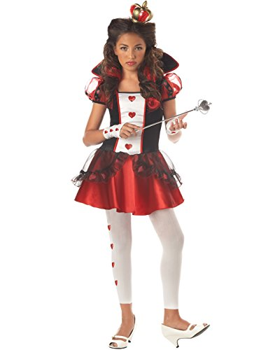 Queen Of Hearts From Alice In Wonderland (California Costumes Tween Queen Of Hearts Costume,Red/Black/White)