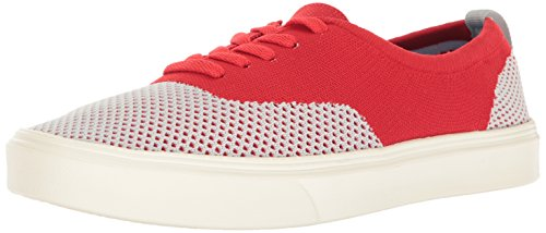 People Men's The Stanley Knit Sneaker, Gallery Grey/Red/White, 10 M US