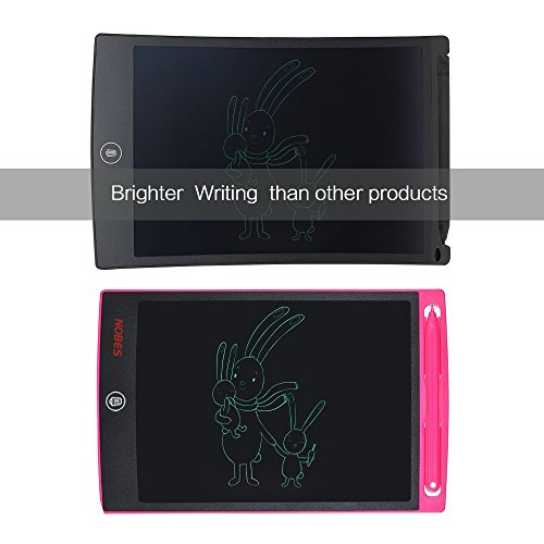 Nobes Newest LCD Writing Tablet 8.5 inch (Upgrade Brightness), Electronic Writing Doodle Pad Digital Drawing Board eWriter, As Office Whiteboard Bulletin Board Memo Notice and Gifts for Kids (Pink) by NOBES (Image #4)