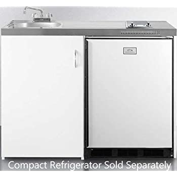 Summit C48 Kitchen All In One Combination Unit, White