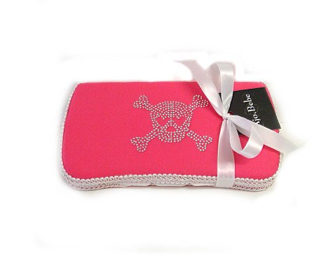 (Skull Pink Baby Travel wipes case)