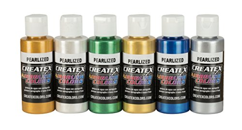 Createx Colors 2-Ounce AB Airbrush Set, Pearl (Paint Pearl Additive)