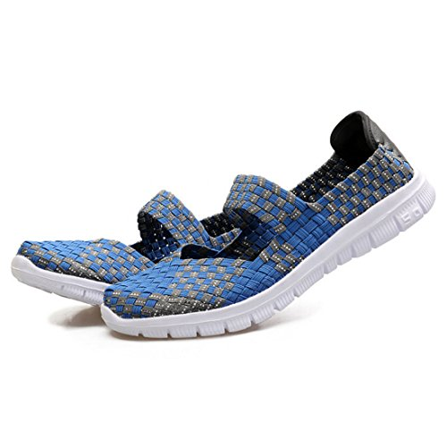 Jane Summer Water Closed Shoes Sport Blue Enerhu Ourdoor Sandals Women Mixed Mary Toe Woven Slip Heel Flat Bar On Color Shoe wzBSxPHz