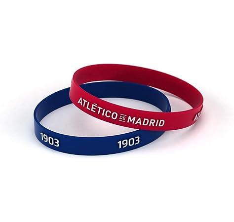 Atlético de Madrid Pulsera Relieve Roja y Azul Estándar para ...