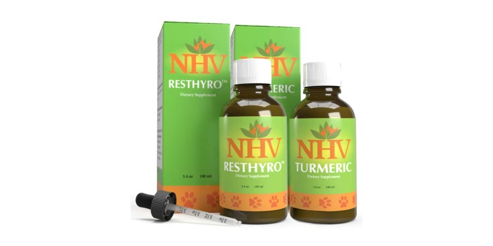 NHV Hyperthyroidism Gold Support Kit for Cats, Dogs & Small Pets | Support Your Cat's/Dog's/Small Pet's Thyroid & Overall Organ Function by NHV