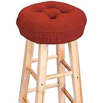 Wondrous Amazon Com Polyester Raindrop Bar Stool Cushion Brick Red Camellatalisay Diy Chair Ideas Camellatalisaycom
