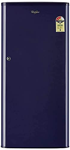 Renewed  Whirlpool 190 L 3 Star Direct Cool Single Door Refrigerator  WDE 205 CLS 3S BLUE cr, Blue  Refrigerators