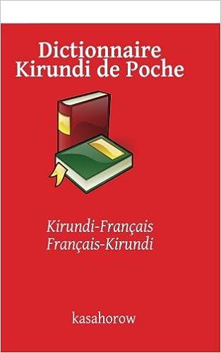 Dictionnaire Kirundi De Poche Kirundi Francais Francais