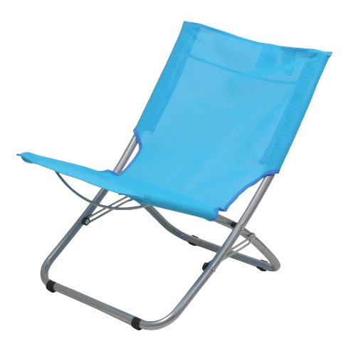 10T Sunchair - Mobiler Camping-Stuhl Strandstuhl faltbar Textilene hellblau 2700g leicht