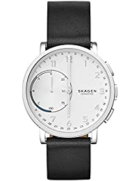 Hagen Connected Black Leather Hybrid Smartwatch