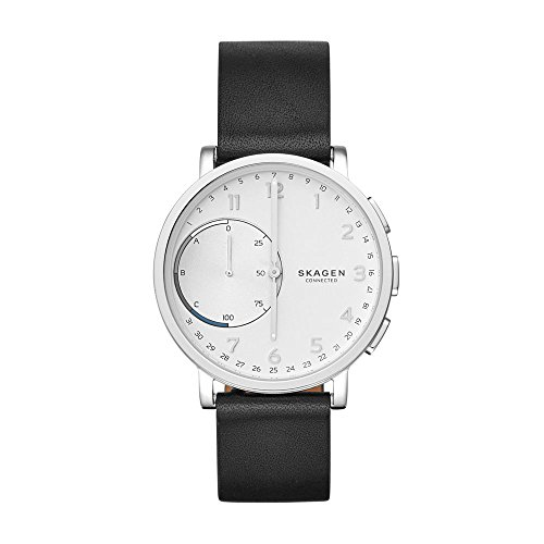 Skagen Hagen Connected Black Leather Hybrid Smartwatch by Skagen