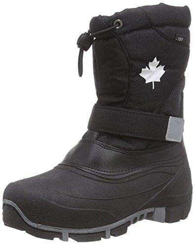 Canadians 467 185 Unisex-Kinder Warm Gefütterte Schneestiefel Schwarz (Black 008)