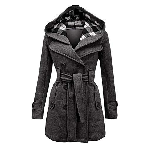 Winter Dama Abrigos Tops De Ysfu Las Girls Blusa Moda Casual Outwear Belt Otoño Cinturón Slim Plain Sobretodo Señoras Femenina Oficina Mujeres Warm wZvqdf