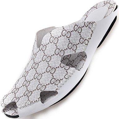 Sandalias de verano zapatos de hombre exterior / oficina / Carrera / Trabajo y deber / Athletic / / vestimenta casual zapatillas cuero Nappa blanco Blanco