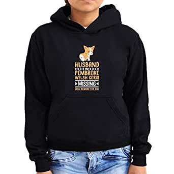 Husband and Pembroke Welsh Corgi missing Women Hoodie