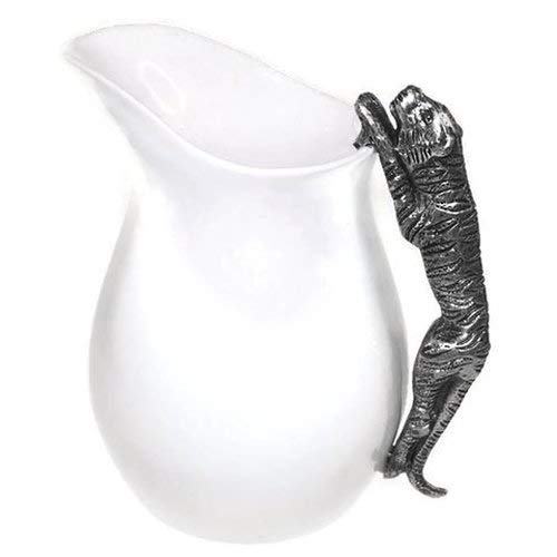 (OKSLO Liddle ceramic water pitcher with tiger handle)