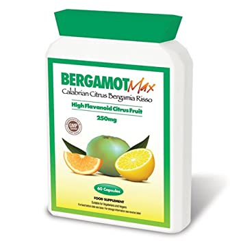 Bergamot Max 250mg High Flavonoid Citrus Fruit 60 Capsules Weight
